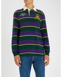 Polo Ralph Lauren - Striped Cotton-piqué Rugby Shirt - Lyst