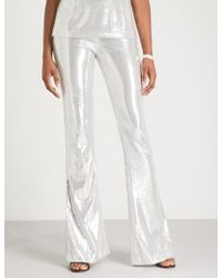 Galvan London - Galaxy Flared High-rise Sequinned Trousers - Lyst
