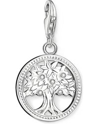 Thomas Sabo | Charm Club Silver And Zirconia Tree Of Life Charm Pendant | Lyst