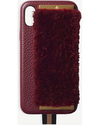 Chaos - Shearling And Leather Iphone X Case - Lyst