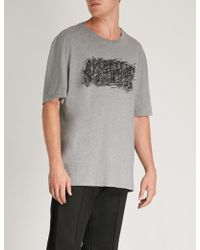 Maison Margiela - Scribbled Logo-print Cotton-jersey T-shirt - Lyst