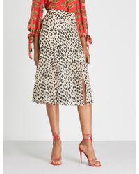 Alice + Olivia - Athena Leopard-print Devoré Skirt - Lyst