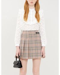 Claudie Pierlot Biche Ruffle-trimmed Broderie-anglaise Shirt - White