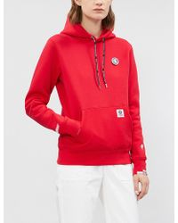 Aape - Logo-embroidered Cotton-blend Hoody - Lyst