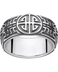 Thomas Sabo - Rebel At Heart Blackened Sterling Silver Ring - Lyst