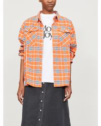 The Ragged Priest - Wayward Checked Brushed-cotton Jacket - Lyst
