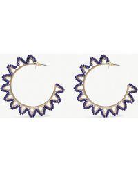 BaubleBar - Mariza Beaded Gold-plated Hoop Earrings - Lyst