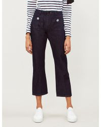 Claudie Pierlot - Palace Crystal-embellished Straight High-rise Jeans - Lyst