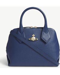 Vivienne Westwood - Navy Blue Balmoral Small Leather Shoulder Bag - Lyst