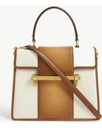 Valentino - Uptown Leather Top Handle Bag - Lyst