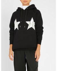 GOOD AMERICAN - Stars Stripes Cotton-jersey Hoody - Lyst