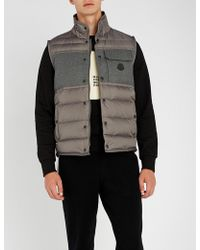 Moncler - Quilted Shell And Wool Gilet - Lyst