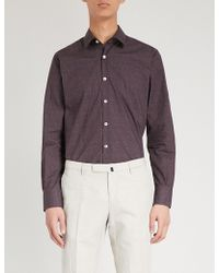 Canali - Floral-print Regular-fit Cotton Shirt - Lyst