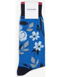 Duchamp - Boris Floral Cotton-blend Socks - Lyst