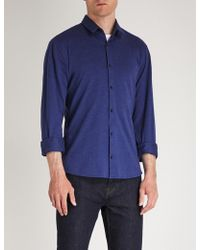 HUGO - Textured Extra Slim-fit Stretch-cotton Shirt - Lyst