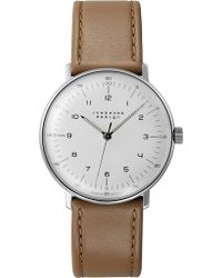 Junghans - 027/3701.00 Max Bill Stainless Steel And Leather Watch - Lyst