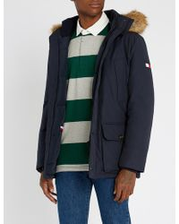 Tommy Hilfiger - Hampton Padded Cotton-blend And Faux-fur Hooded Parka - Lyst