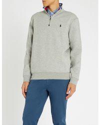 Polo Ralph Lauren - Funnel-neck Cotton-blend Sweatshirt - Lyst