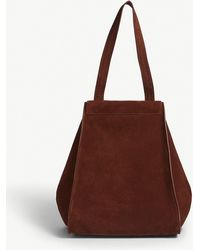 Max Mara - Brown Anit Suede Tote Bag - Lyst