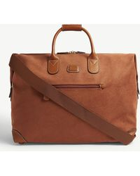 Bric's - Logo Embossed Faux-suede Holdall - Lyst