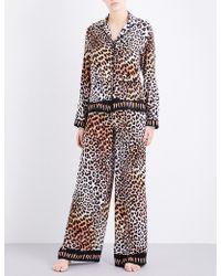 Rockins | Leopard-print Silk Pyjama Set | Lyst