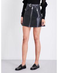 Maje | Jouki A-line Leather Skirt | Lyst