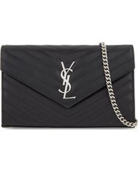 Saint Laurent - Monogram Leather Cross-body Bag - Lyst