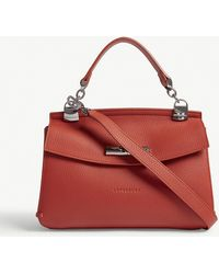 Longchamp - Madeleine Grained Leather Cross-body Bag - Lyst