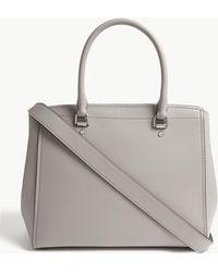 MICHAEL Michael Kors - Benning Large Leather Messenger Bag - Lyst