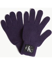 Calvin Klein - Basic Wool And Cashmere Knitted Gloves - Lyst