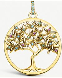 Thomas Sabo - Paradise Tree Of Love 18ct Yellow Gold-plated Gemstone Pendant - Lyst