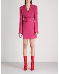 Off-White c/o Virgil Abloh - Tailored-fit Crepe Blazer Dress - Lyst