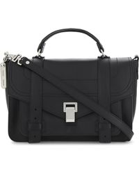 Proenza Schouler Ps1 Medium Grained Leather Satchel - Black