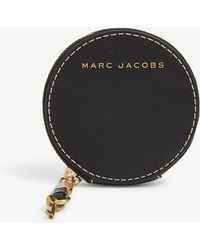 Marc Jacobs - Black And Dark Cherry Red Leather Coin Pouch - Lyst