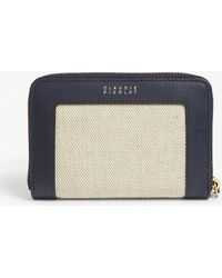 Claudie Pierlot Leather And Canvas Purse
