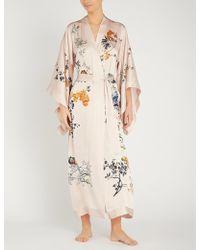 Meng - Floral-pattern Silk Kimono - Lyst