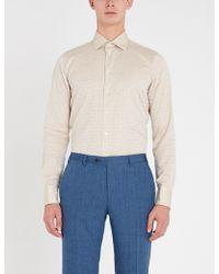 Richard James - Geometric-jacquard Contemporary-fit Cotton Shirt - Lyst