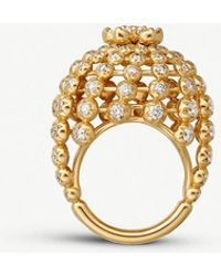 Cartier - Cactus De 18ct Yellow-gold And Diamond Ring - Lyst