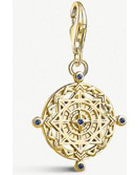 Thomas Sabo - Compass 18ct Yellow Gold-plated Charm - Lyst