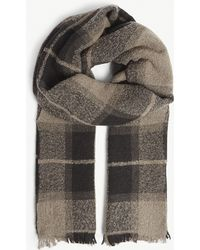 Rick Owens - Plaid Wool Scarf - Lyst