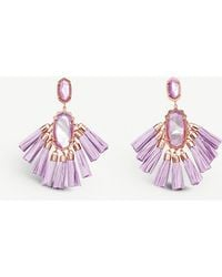 Kendra Scott - Kristen 14ct Rose Gold-plated And Mother-of-pearl Stone Drop Earrings - Lyst