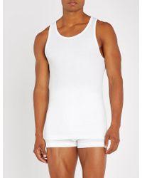 Calvin Klein - Set Of Two Cotton-jersey Crewneck T-shirts - Lyst