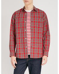 A Bathing Ape - Checked Regular-fit Cotton Shirt - Lyst