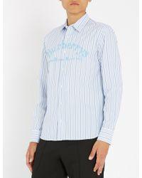 Burberry - Striped Regular-fit Cotton Shirt - Lyst
