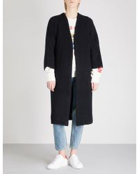 Mo&co. - Oversized Knitted Cardigan - Lyst
