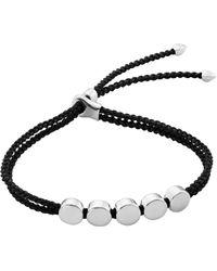 Monica Vinader - Linear Bead Sterling Silver Friendship Bracelet - Lyst
