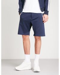 The Kooples - Panel Striped Jersey Shorts - Lyst