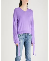 Mo&co. | Drawstring-sleeve Wool Jumper | Lyst