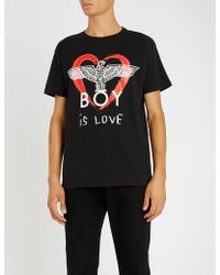BOY London - Boy Is Love Cotton-jersey T-shirt - Lyst 09114cc6fffa