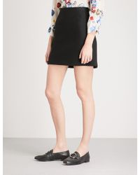 Claudie Pierlot - High-rise Woven Mini Skirt - Lyst
